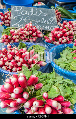 Europe, France, Vienne. Radishes for sale. - Stock Image