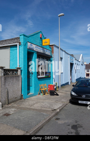 Angler's Corner fishing tackle and bait shop in Milford Haven, Pembrokeshire. - Stock Image