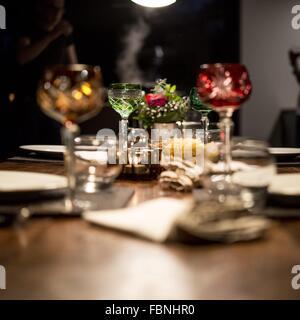 Setting Table For Dinner - Stock Image