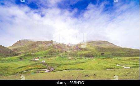 The way to the Rainbox Mountain - Stock Image