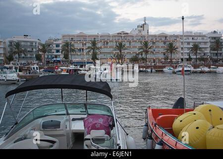 Cala Bona harbour, Majorca - Stock Image