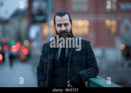 Portrait of mature man - Stock Image