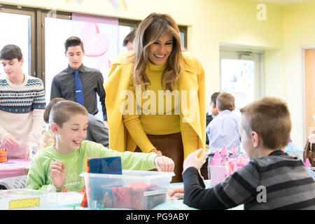 First Lady Melania Trump at Cincinnati Children's Hospital | February 5, 2018 Photo of the Day February 6, 2018 - Stock Image