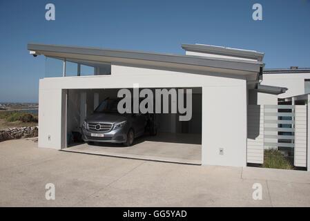 Exterior of modern car garage - Stock Image
