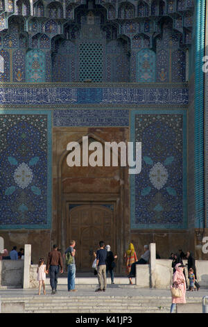 The Shah Mosque also known as Imam Mosque and Jaame' Abbasi Mosque. Isfahan, Iran. - Stock Image