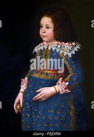 Ritratto di Fanciullo - Portrait of Child by Chiara Varotari 1584-1663 Italy Italian - Stock Image