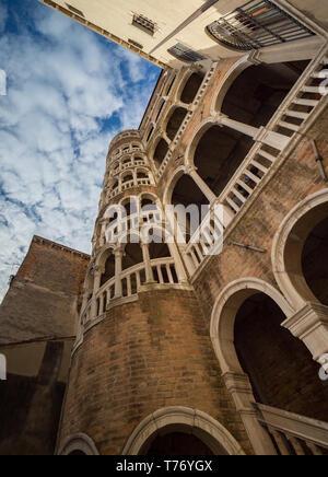 Scala Contarini del Bovolo in Venice - Stock Image