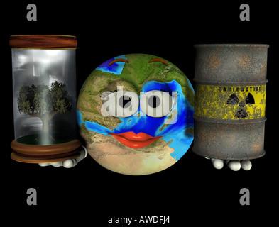 Nature or radioactive waste - Stock Image