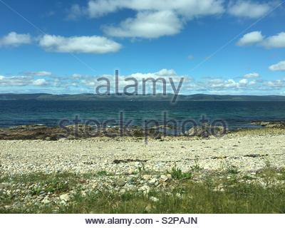 Isle of Arran on a sunny day - Stock Image