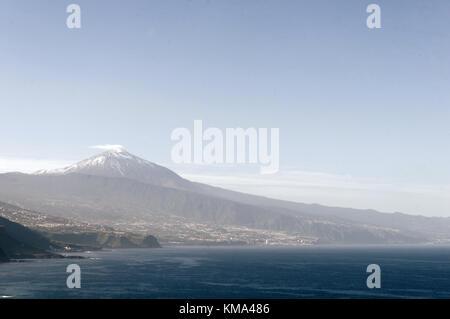mount teide tenerife puerto de la cruz canary islands canaries - Stock Image