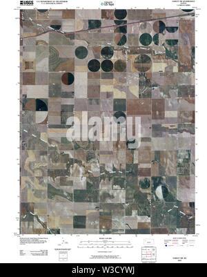 USGS TOPO Map Kansas KS Oakley SW 20091126 TM Restoration - Stock Image