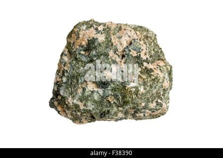 Tremolite-alkali feldspar skarn - Stock Image