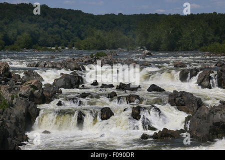 Great Falls of the Potomac River Maryland. - Stock Image