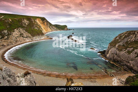 Late Evening at the Man o War Cove - Stock Image