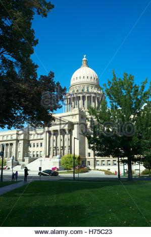 Idaho State Capitol building, in Boise, Idaho, USA. - Stock Image