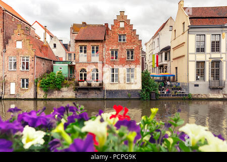 Old town of Ghent, Belgium - Stock Image