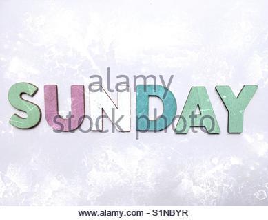 sunDay' (word) - Stock Image