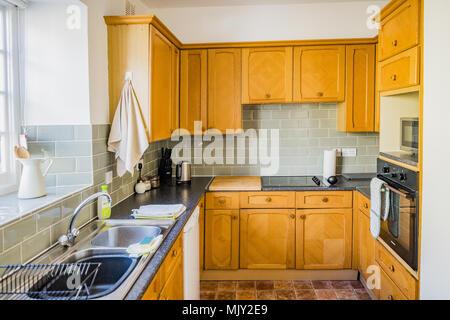 kitchen interior of house - Stock Image