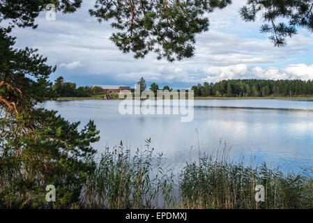 Skogssjon Lake, Mjolby, Sweden - Stock Image