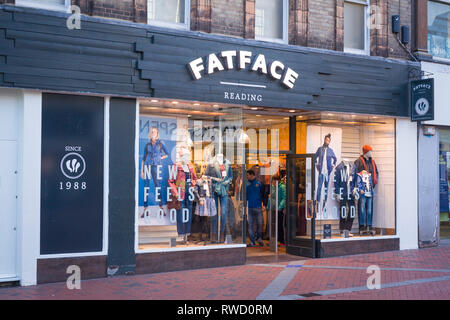The Fatface clothing store in Broad Street, Reading, Berkshire. - Stock Image