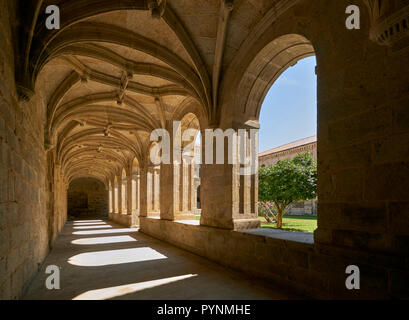 Cloisters of the Monasterio de San Clodio, now a hotel. Near Leiro, Galicia, Spain.   [Ribeiro] - Stock Image