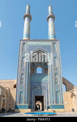 Jameh Mosque, Yazd, Iran. - Stock Image