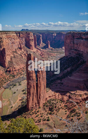 Junction Overlook at the Canyon de Chelly National Monument. - Stock Image