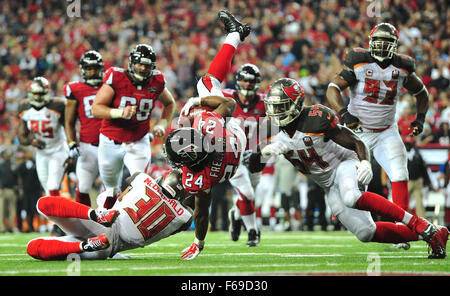 November 1, 2015: #24 Devonta Freeman of the Atlanta Falcons in action during NFL game between Houston Texans and - Stock Image
