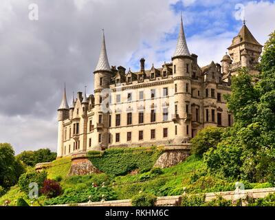 Dunrobin Castle, Golspie, Highland, Scotland, Great Britain - Stock Image