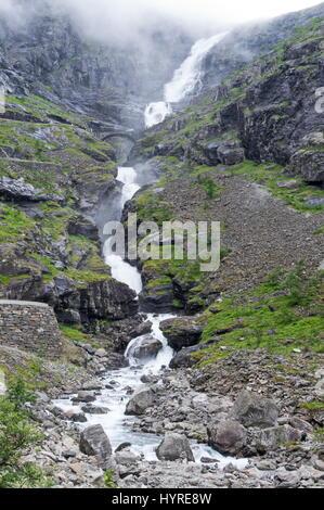 Stigfossen Waterfall - Stock Image