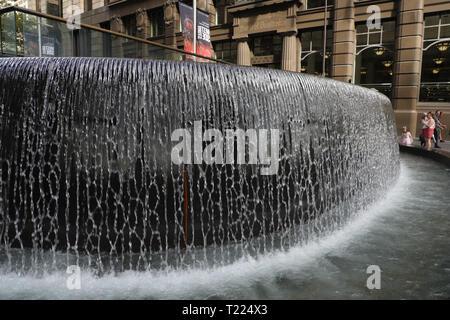 Fountain in Martin Place, Sydney, Australia - Stock Image