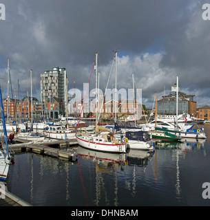 Ipswich Marina and docklands redevelopment - Stock Image