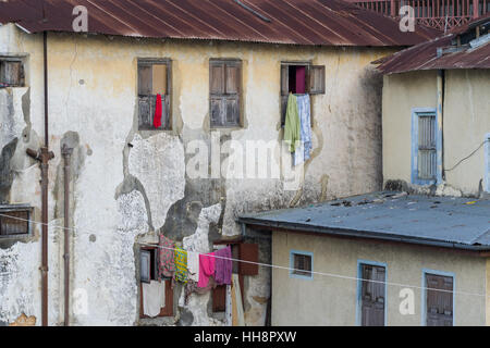 Local stone town life, hotel view at Stone town - Stock Image