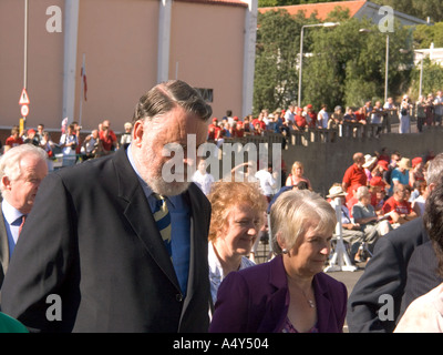 International mediator Terry Waite, an invited guest, attending the Honorary Freedom of the City of Gibraltar ceremony 2004, - Stock Image