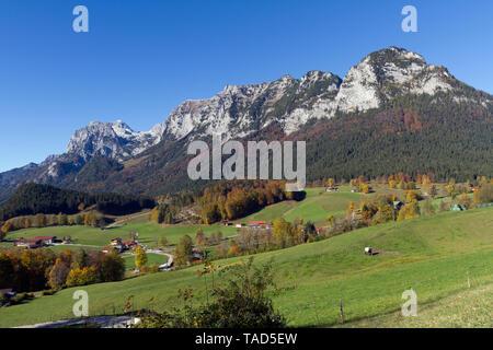 Germany, Upper Bavaria, Mountains near Lake Taubensee - Stock Image