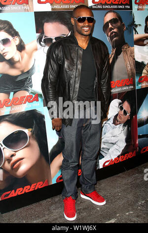 New York, USA. 13 March, 2009. Model, Tyson Beckford at the launch of Carrera Vintage Sunglasses at Angel Orensanz Foundation. Credit: Steve Mack/Alamy - Stock Image