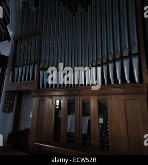 Holy Trinity Church Woodgreen Witney Pipe Organ, West Oxfordshire, England, UK - Stock Image