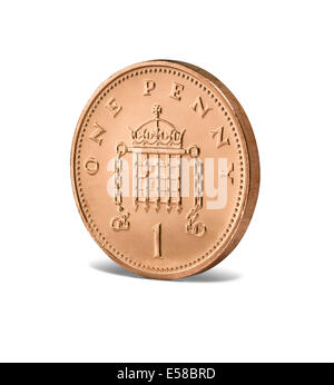 A new one penny coin - Stock Image