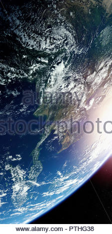 Southeast Asia from space - Stock Image