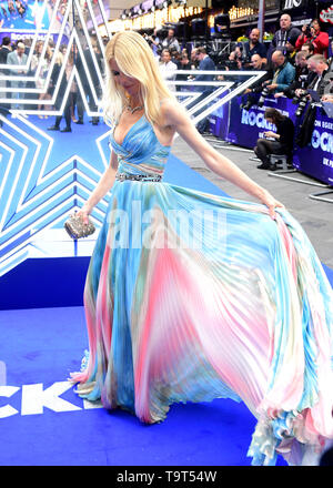 Claudia Schiffer attending the Rocketman UK Premiere, at the Odeon Luxe, Leicester Square, London. - Stock Image