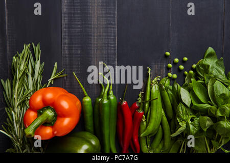 vegetable,ingredient,fresh herbs - Stock Image