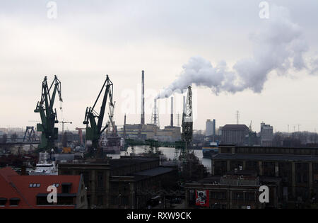 Gdansk Shipyards in Northern Poland - Stock Image