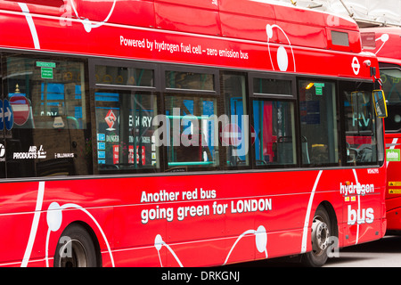 Hydrogen powered London bus - Stock Image