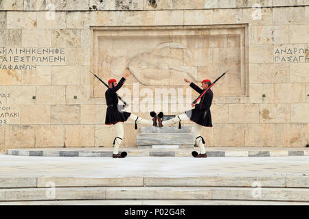 Changing of Guards, Athens, Greece - Stock Image