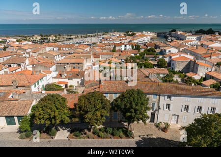 view from above at the city of Saint Martin on a sunny day - Stock Image