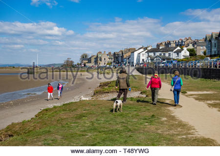 The attractive seaside village of Arnside, Cumbria, England, UK on the Kent Estuary - Stock Image