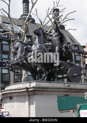 Statue of Boudicca at Westminster Bridge London May 2010 - Stock Image