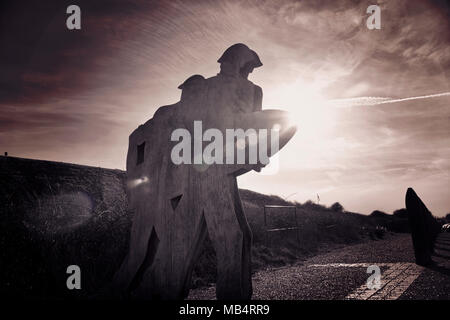 Artillery Soldiers Newhaven Fort - Stock Image