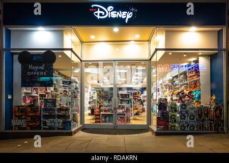 Pop Up,Disney Store,Whitefriars Shopping Centre,Canterbury,Kent,England - Stock Image