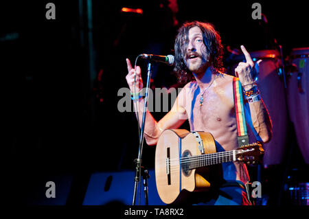 Eugene Hutz, frontman, singer and guitarist from Gogol Berdello - Stock Image